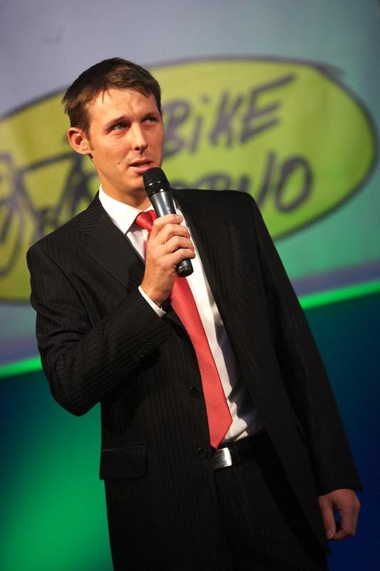 Bike Brno 2009 - ředitel projektu Sport Life Jan Kuběna zahajuje Bike Brno
