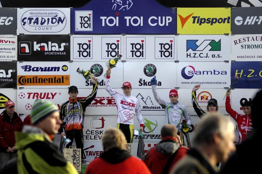 Toi Toi Cup #7, 21.10.2009 Louny: junioři - 1. Nipl, 2. Paprstka, 3. Polnický