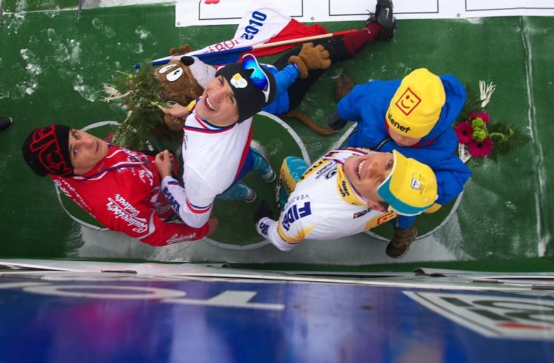 Mistrovství ČR v cyklokrosu 2010, Tábor: trojlístek nejlepších