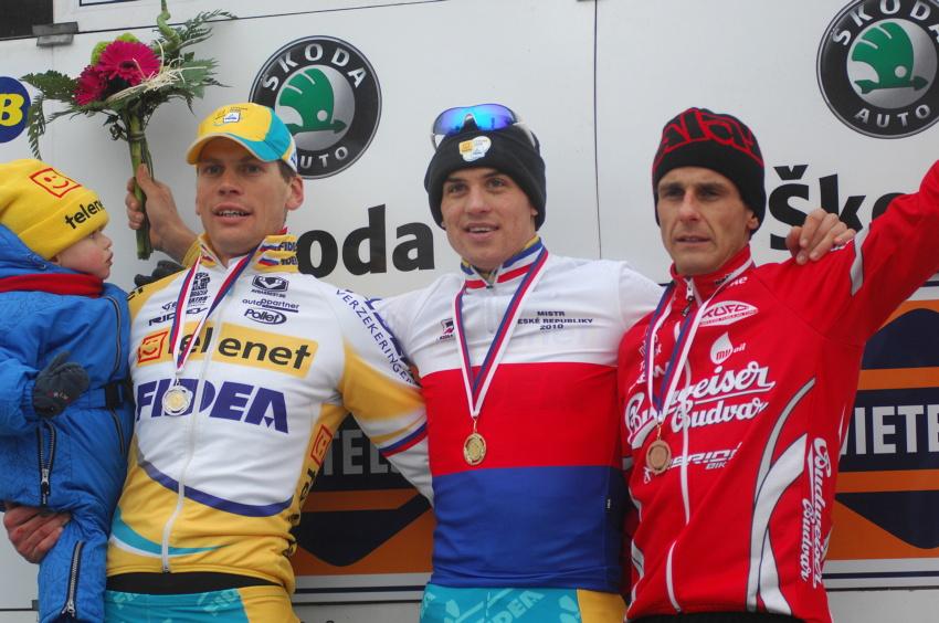 Mistrovství ČR v cyklokrosu 2010, Tábor: 1. Štybar, 2. Dlask, 3. Bína