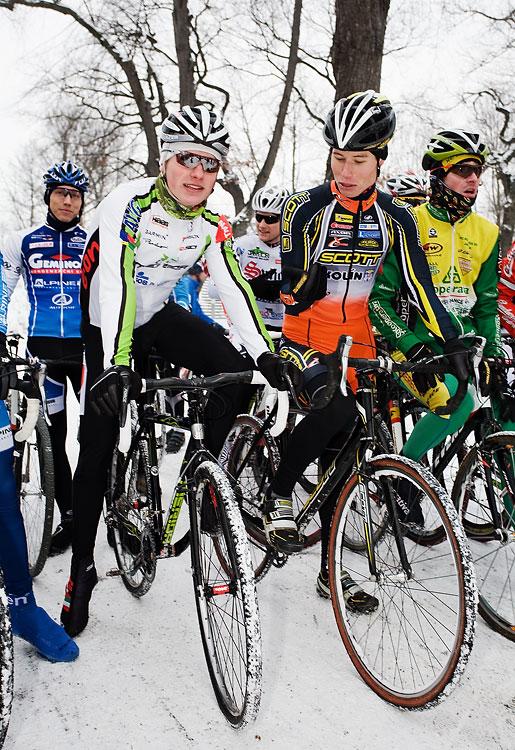 Vánoční cyklokros Praha-Stromovka 2009: Jirka Friedl a Filip Eberl