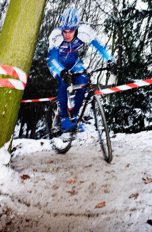 Vánoční cyklokros Praha-Stromovka 2009: Venca Ježek