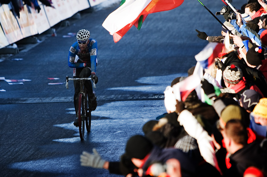 Mistrovstv� sv�ta v cyklokrosu, T�bor 2010 - Elite: Martin Zl�mal�k byl s p�edveden�m v�konem jist� spokojen�