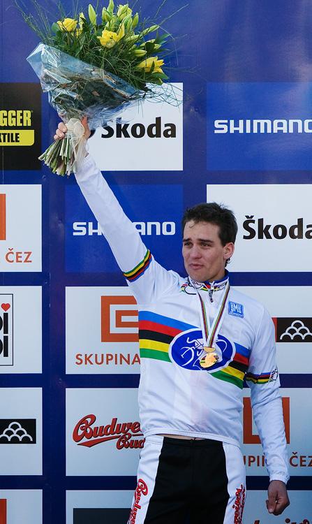 Mistrovství světa v cyklokrosu, Tábor 2010 - Elite: slzy dojetí novopečeného mistra světa...