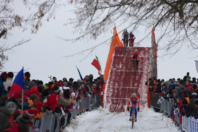 Mistrovství světa v cyklokrosu - Tábor 31.1. 2010 - závod žen - Marianne Vos vedla od prvních metrů