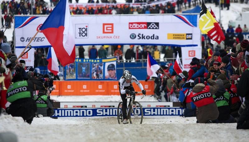Mistrovství světa v cyklokrosu - Tábor 31.1. 2010 - závod žen - Hanka Kuprfernagel