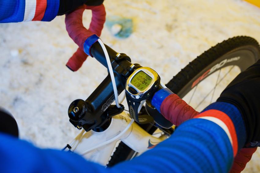 Mistrovství světa v cyklokrosu, Tábor 2010 - ženy: 176 tepů/min. Pavly Havlíkové na ergometru