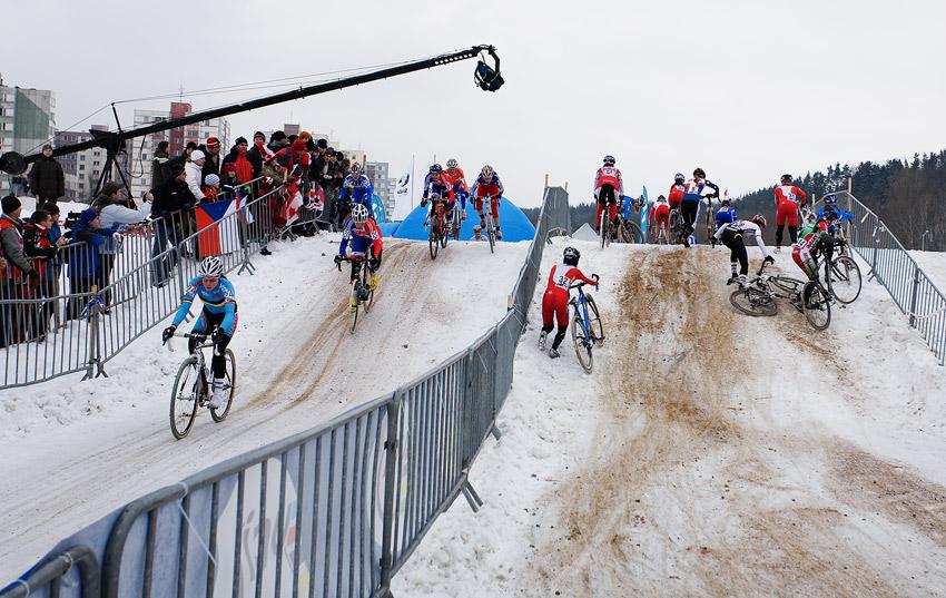 Mistrovství světa v cyklokrosu, Tábor 2010 - ženy: na trati to hodně klouzalo
