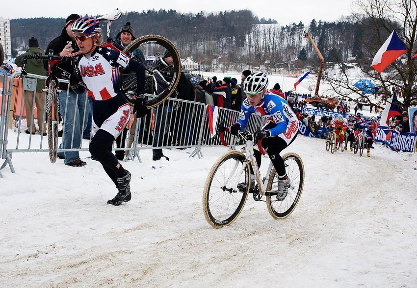 Mistrovstv� sv�ta v cyklokrosu, T�bor 2010 - �eny: Pavla Havl�kov� v sedle