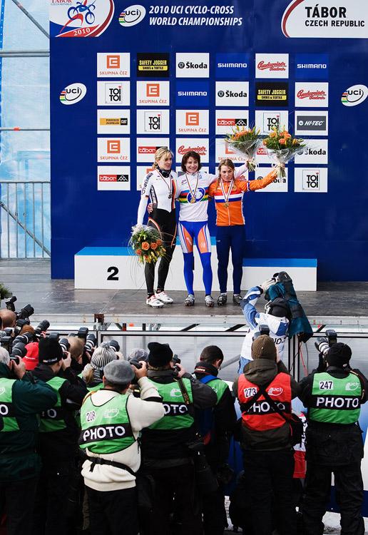 Mistrovství světa v cyklokrosu, Tábor 2010 - ženy:  nejlepší ženy v zájmu fotografů