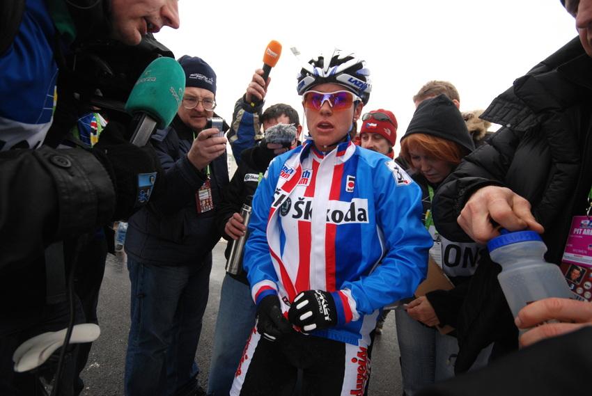 Mistrovství světa v cyklokrosu, Tábor 2010 - ženy: Katce nebylo po závodě zrovna moc do řeči