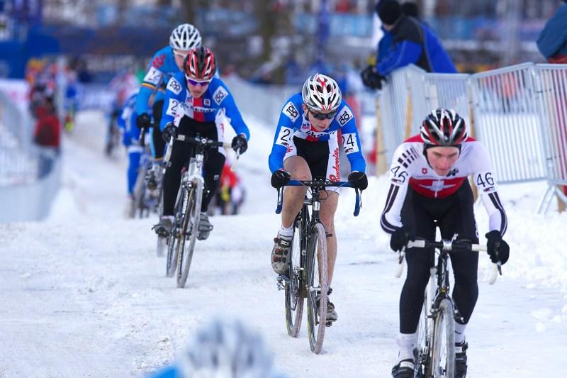 Mistrovství světa v cyklokrosu - Tábor 30.1. 2010 - Michael Boroš a Vojtěch Nipl
