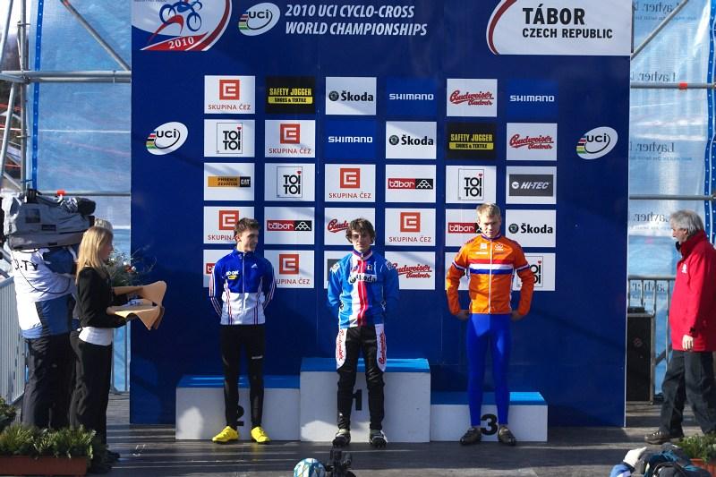 Mistrovství světa v cyklokrosu - Tábor 30.1. 2010 - co se asi Tomášovi honí hlavou, že?