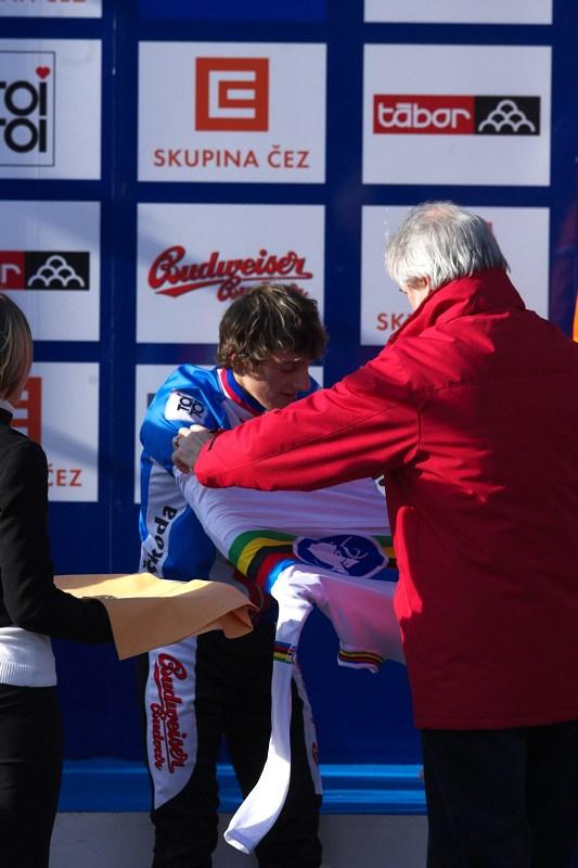 Mistrovství světa v cyklokrosu - Tábor 30.1. 2010 - dekorace mistra světa