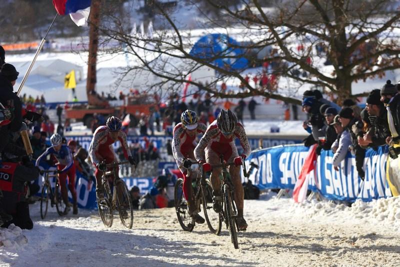 Mistrovství světa v cyklokrosu - Tábor 30.1. 2010 - Polský trojblok