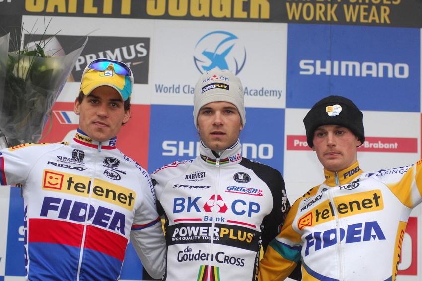 Světový pohár v cyklokrosu #9, Hoogerheide 2010: 1. Albert, 2. Štybar, 3. Pauwels