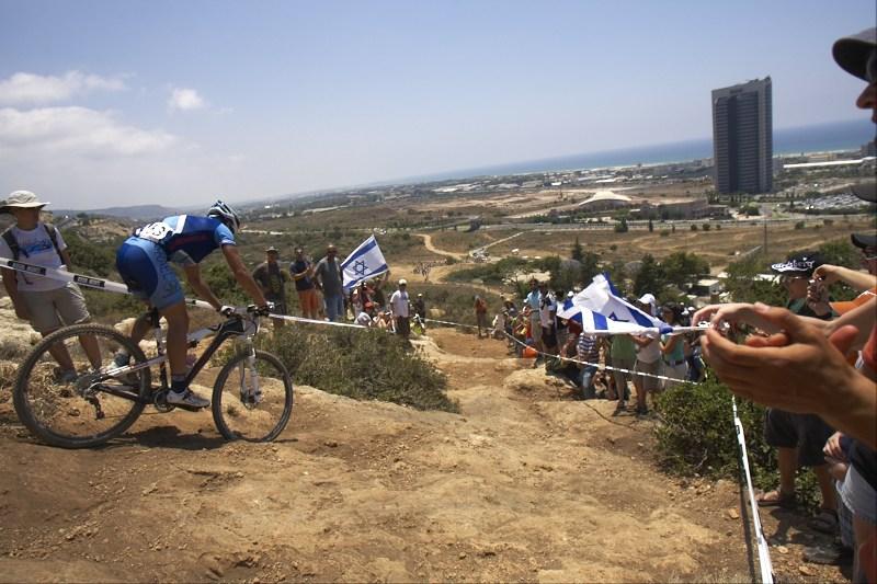 Překvapivě velký počet izraelských fanoušků MTB