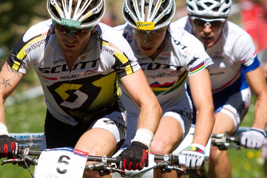 vedoucí skupinka Vogel, Schurter, Absalon
