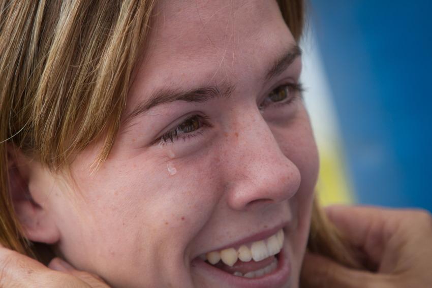 šťastná juniorská mistryně světa Lauren Rosser