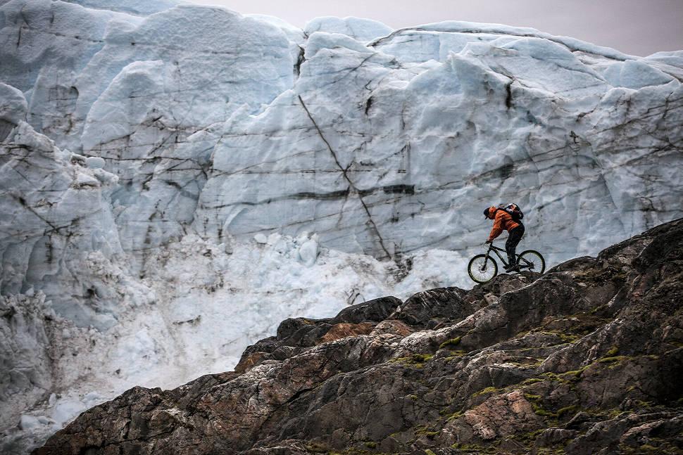 Petr Kraus v Grónsku - před Russel Glacierem
