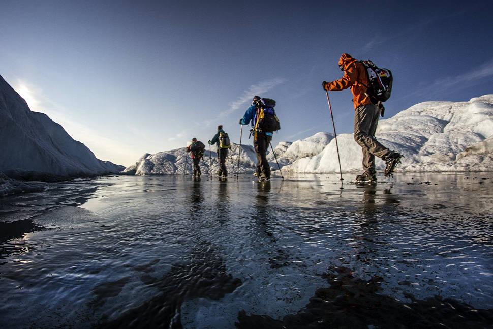 Petr Kraus v Grónsku na zamrzlé řece