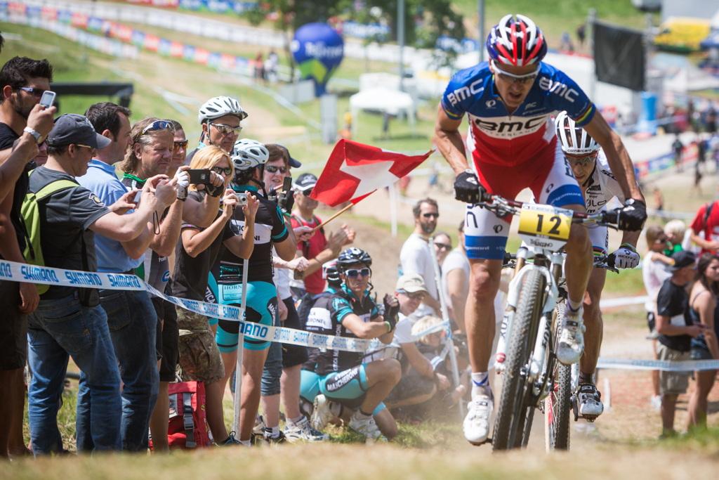 Julien Absalon a Nino Schurter