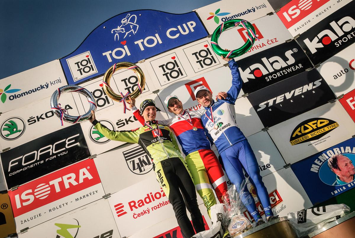 MCŘ v cyklokrosu, Loštice 2014: stupně vítězů