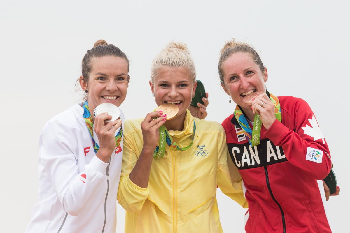 1. Jenny Rissveds, 2. Maja Wloszczowska, 3. Catherine Pendrel