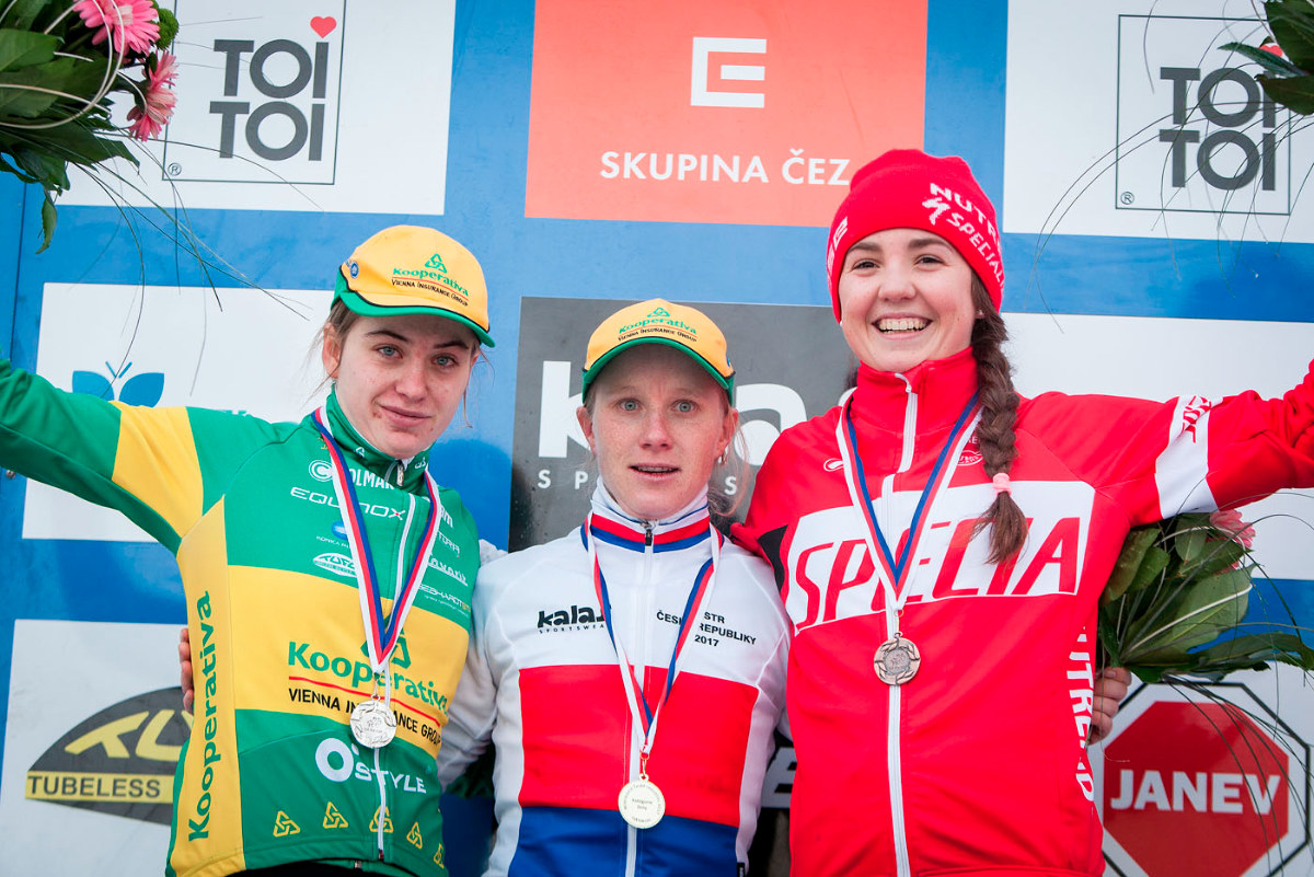 Trio medailistek MČR 2017