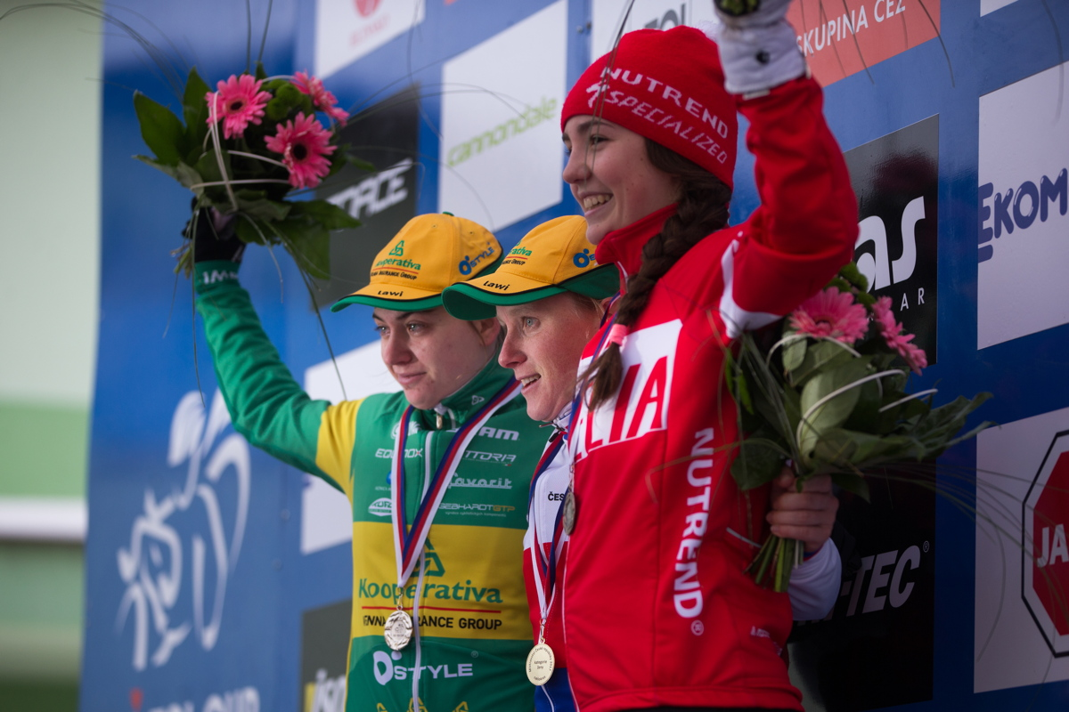 1. Pavla Havlíková, 2. Nikola Nosková, 3. Adéla Šafářová