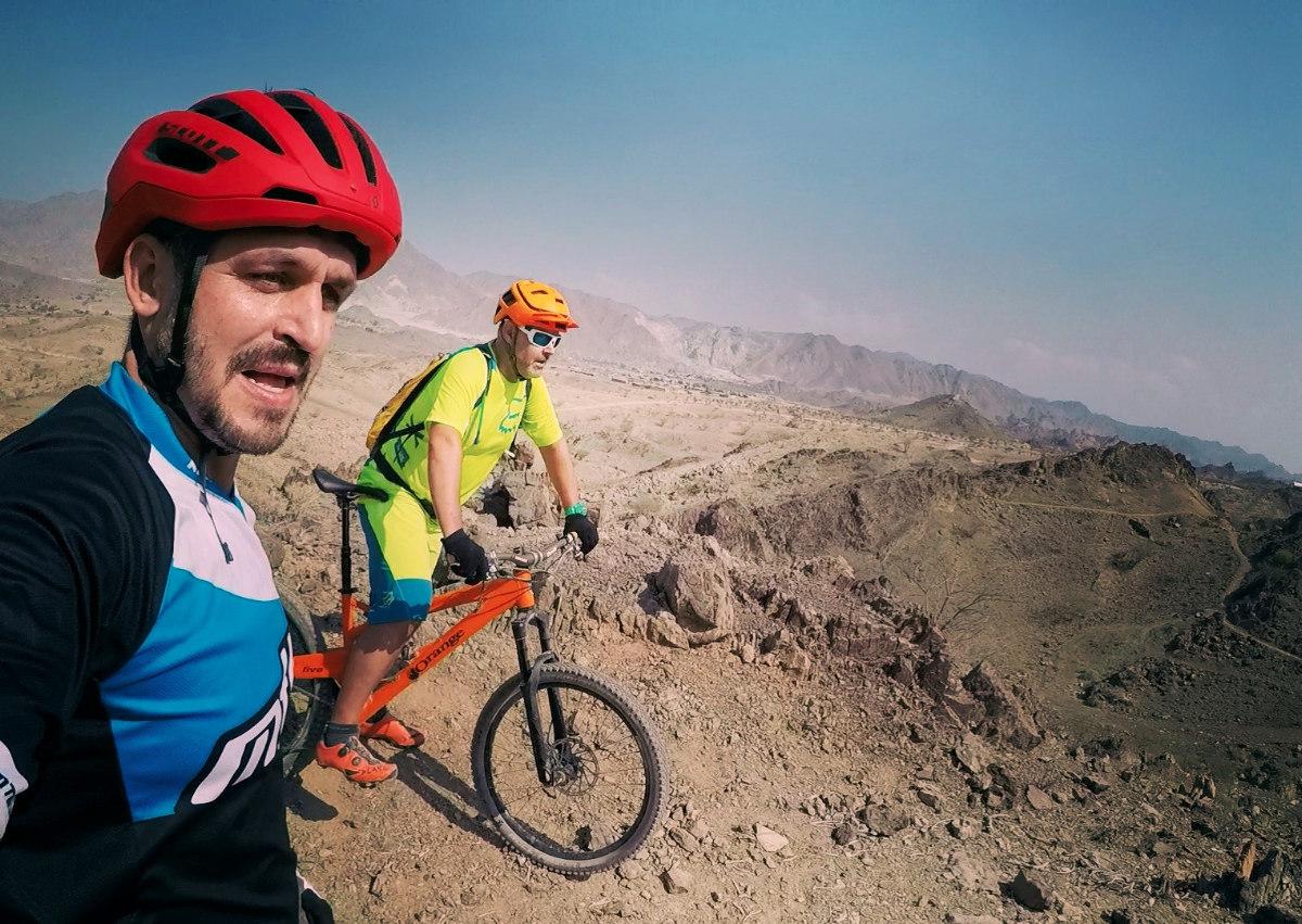 Selfiíčko na nejvyšším bodě červenýho trailu