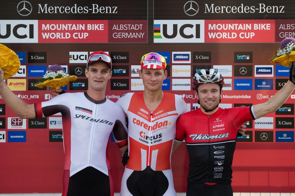 1.Mathieu van der Poel, 2.Sam Gaze, 3.Mathias Fluckiger