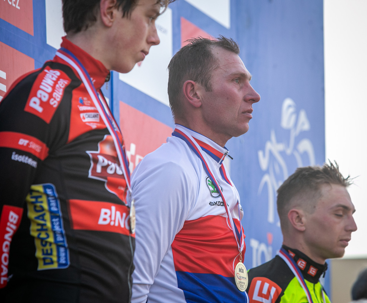 Mistrovství ČR v cyklokrosu 2020 - trio nejlepších