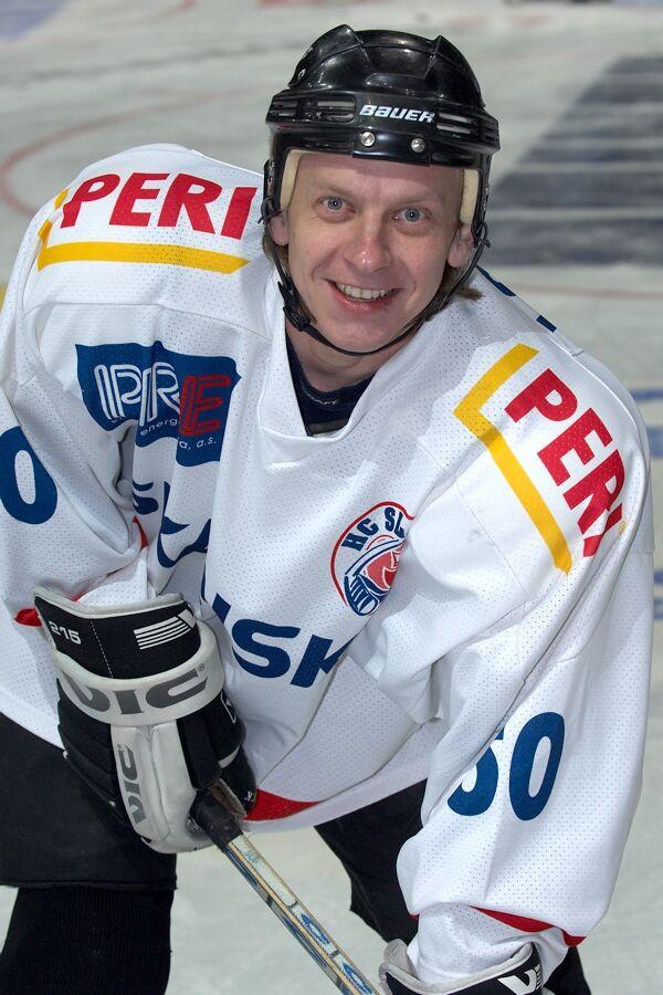 Jaromír Friede - Vánoční hokejový zápas mezi cyklisty a zaměstnanci pražské Sazka Areny, 2006
