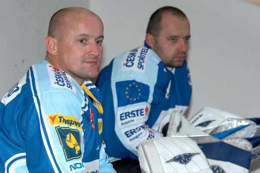 Jirka Kardoš a Patrik Zamazal - Cyklistický superpohár 2006 v hokeji, Mor. Třebová