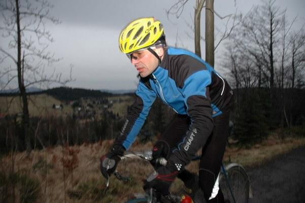 Jan Kopka při tréninku v Jizerských horách, 12.1. 2007, foto: Kamil Arnošt