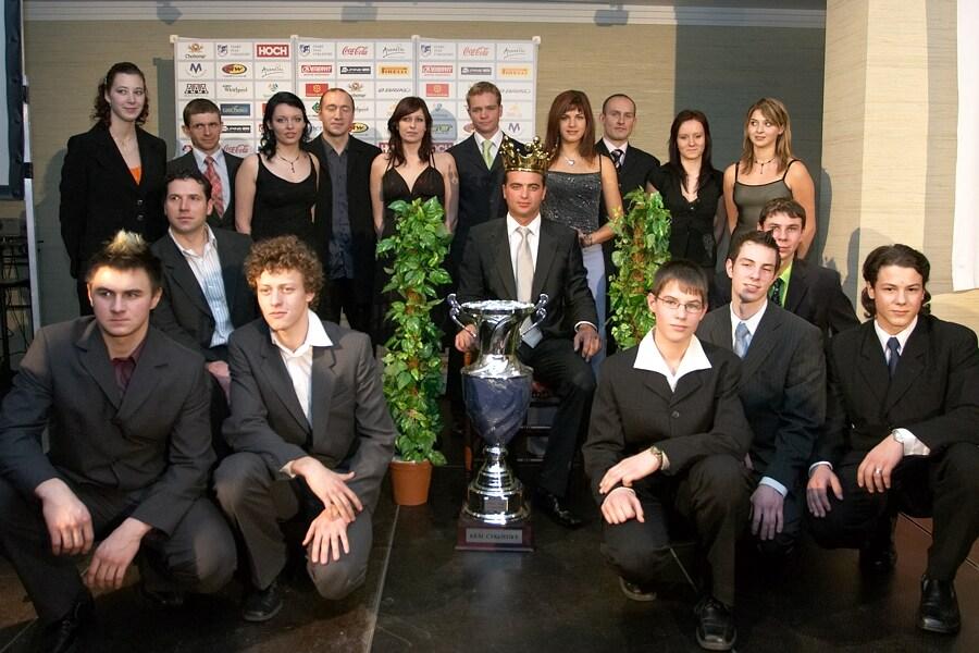 Slavnostní vyhlášení Krále cyklistiky 2006, 18.1. Praha - Hotel President - mejlepší cyklisté roku 2006