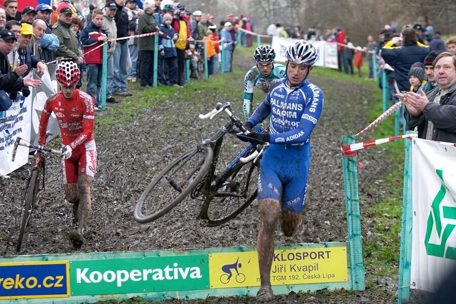 Mistrovství České republiky v cyklokrosu - 6.1. 2007 - Č. Lípa - Šimůnek, Klouček, Štybar