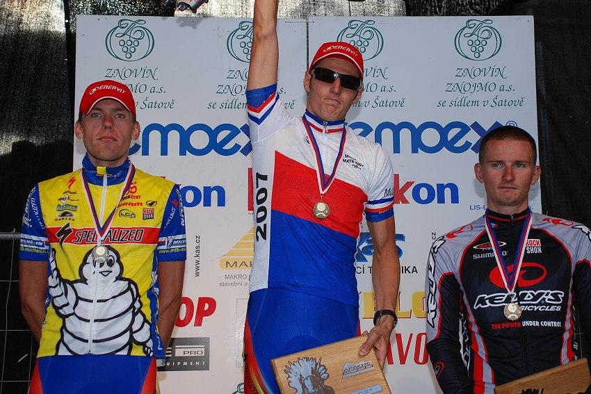 MČR Maraton 2007 - 1. Kulhavý, 2. Vokrouhlík, 3. Boudný