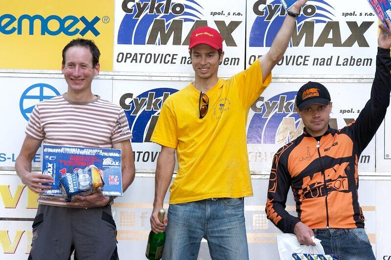 Český pohár XC - 4. závod, 16.6.'07 Velké Losiny - muži open 1. Martin, 2. Bauer, 3. Videcký