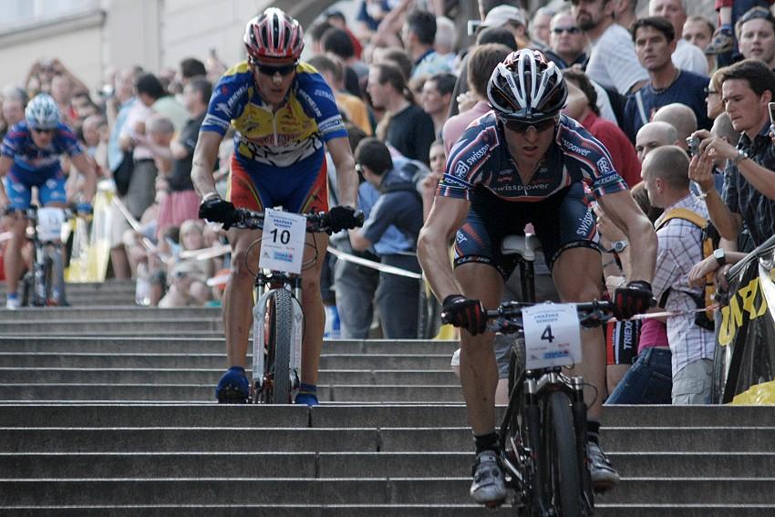 Pražské schody 2007 - Florian Vogel (4), Jaroslav Kulhavý (10) a Václav Ježek (13)