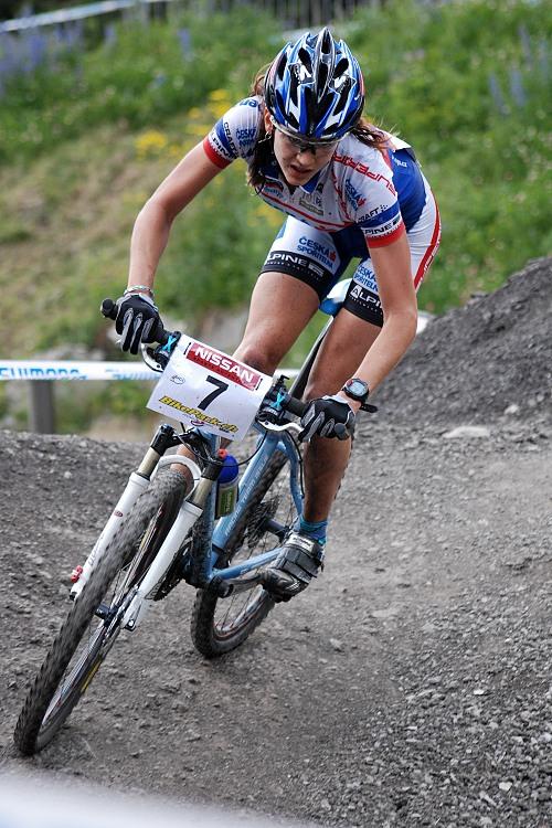 SP XC Champ�ry 2007 - Tereza Hu��kov� a posledn� des�tky metr�