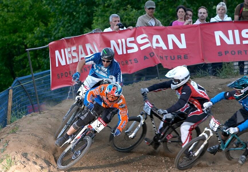 Nissan UCI MTB World Cup DH+4X #3, Mont St. Anne 24.6.'07 - Kamil Tatarkovič ve čtvrtfinále