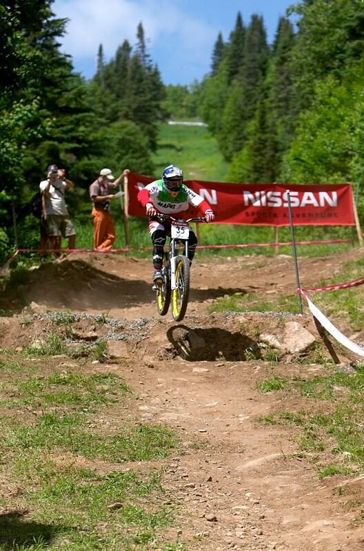Nissan UCI MTB World Cup DH+4X #3, Mont St. Anne 24.6.'07 - italský šampion Beggin