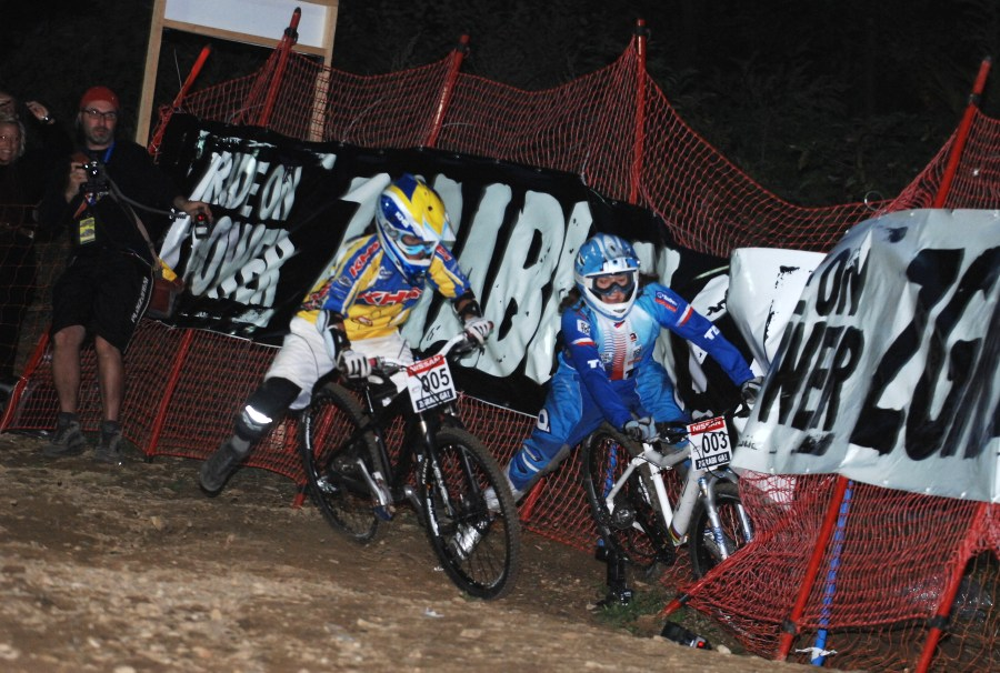 Nissan UCI MTB World Cup 4X #5 - Maribor 15.9. 2007 - Jana Horáková v souboji s Melissou Buhl ve finále