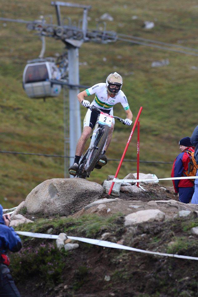 MS 2007 Downhill / Fort William Skotsko - Joel Bain - junioři