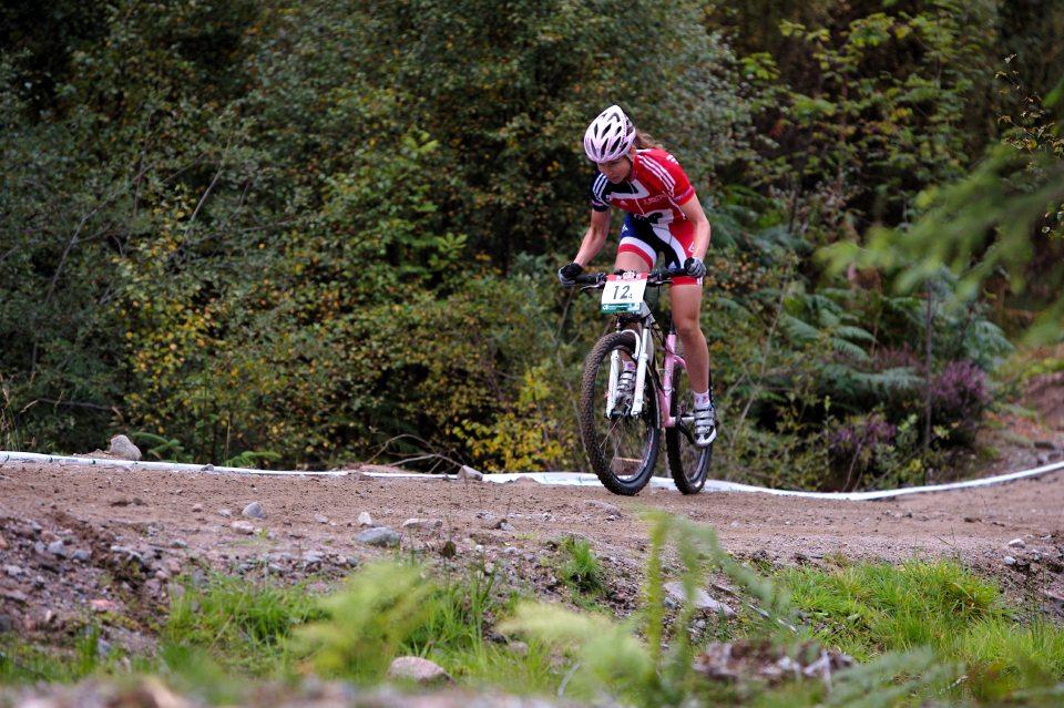 MS MTB 2007 štafety - finišmenka Britské štafety Copnall
