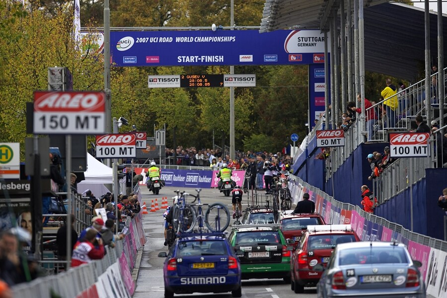 MS časovka mužů - Stuttgart 26.9. 2007 - Cancellara v polovině závodu