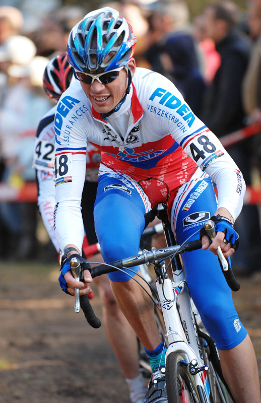 UCI Cyclo Cross World Cup #1 Kalmhout, 20.10.2007 foto: Frank Bodenmüller - Petr Dlask