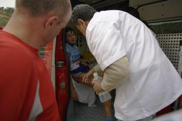 Sunshine Cup #4 - Voroklini/Kypr - 9.3. 2008 - Tereza Huříková v sanitce